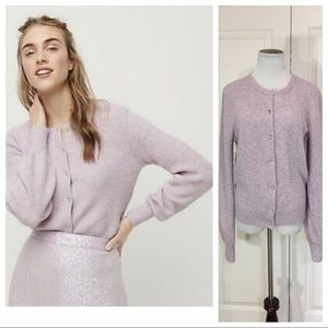 J.CREW Ribbed Jeweled Cardigan Sweater